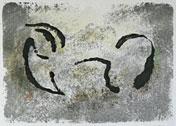 Vagn - Litografi på sten av Curt Asker.