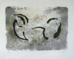 Carriage - Lithography on stone by Curt Asker.