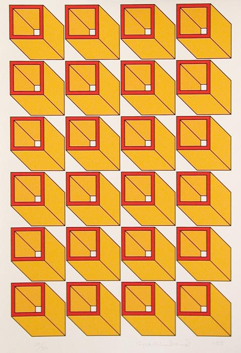 Serigrafi Konstakademien 1 av Cajsa Holmstrand.