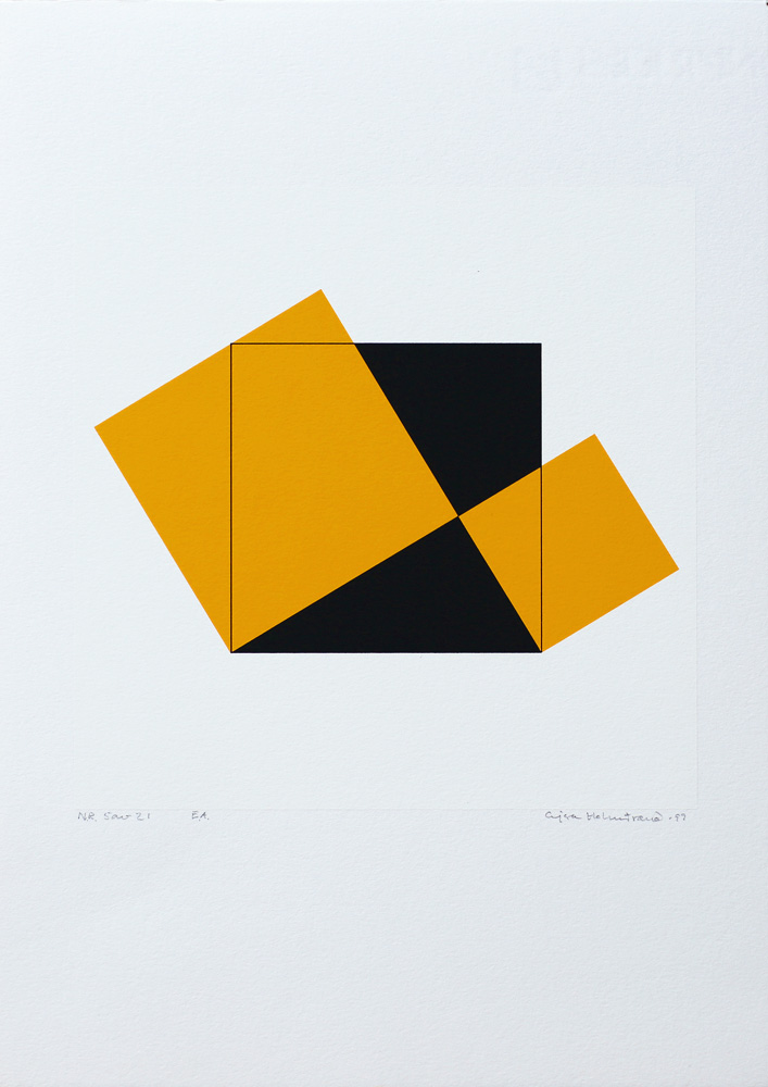 Pythagoras 5/21 - Silk-Screen by Cajsa Holmstrand.