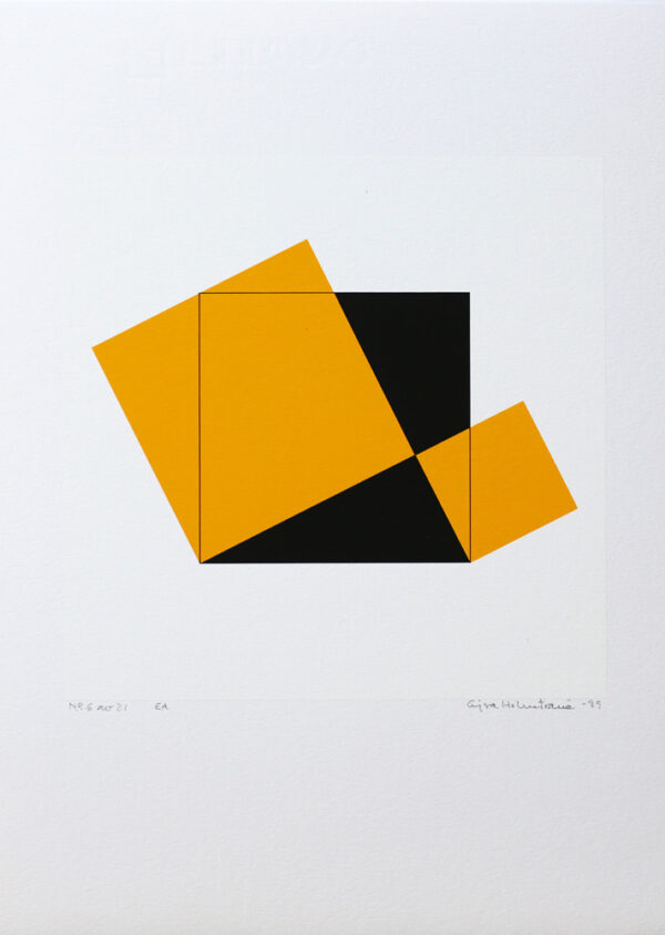 Pythagoras 6/21 - Silk-Screen by Cajsa Holmstrand.
