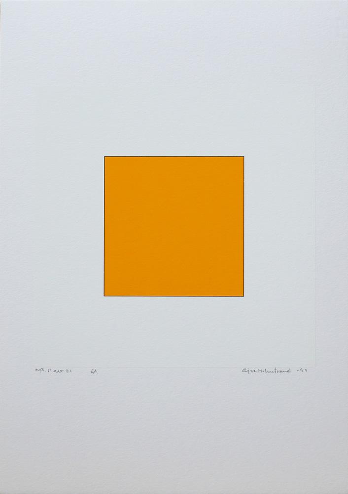 Serigrafi Pythagoras 11/21 av Cajsa Holmstrand.