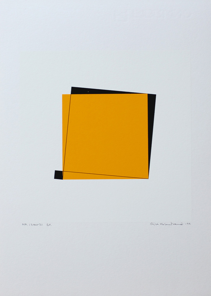 Pythagoras 12/21 - Silk-Screen by Cajsa Holmstrand.