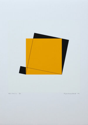 Pythagoras 13/21 - Silk-Screen by Cajsa Holmstrand.