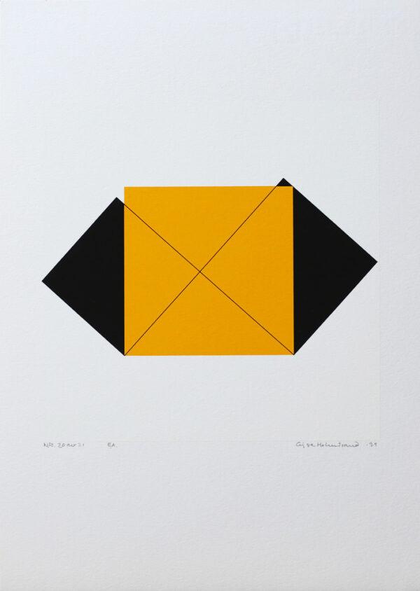 Pythagoras 20/21 - Silk-Screen by Cajsa Holmstrand.