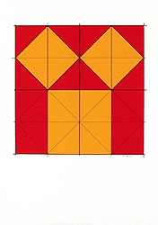 Silk-Screen Pythagoras´ Theorem (1) by Cajsa Holmstrand