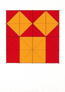 Pythagoras´ theorem (1) - Silk-Screen by Cajsa Holmstrand.