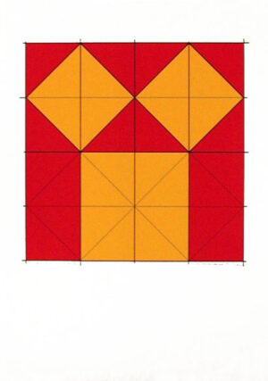 Pythagoras´ theorem (1) - Silk-Screen by Cajsa Holmstrand.