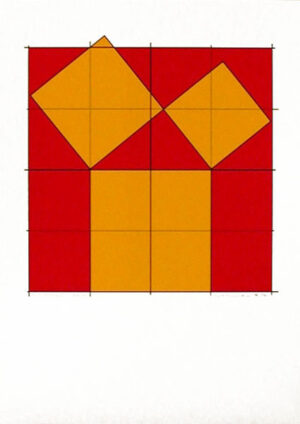 Pythagoras´ Theorem (2) - Silk-Screen by Cajsa Holmstrand.