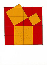 Silk-Screen Pythagoras´ Theorem (3) by Cajsa Holmstrand