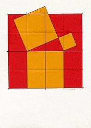 Silk-Screen Pythagoras´ Theorem (4) by Cajsa Holmstrand