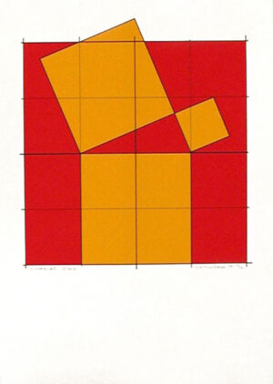 Pythagoras´ Theorem (4) - Silk-Screen by Cajsa Holmstrand.