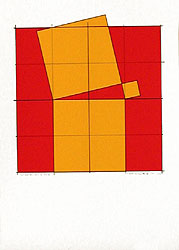 Silk-Screen Pythagoras´ Theorem (5) by Cajsa Holmstrand