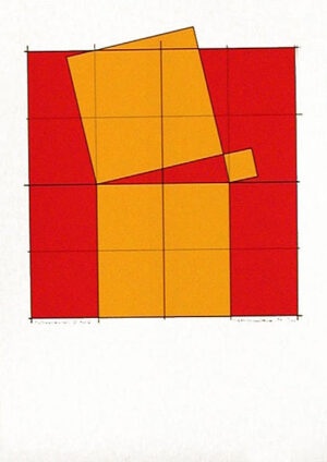 Pythagoras´ Theorem (5) - Silk-Screen by Cajsa Holmstrand.