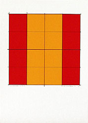 Silk-Screen Pythagoras´ Theorem (6) by Cajsa Holmstrand