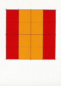 Pythagoras´ Theorem (6) - Silk-Screen by Cajsa Holmstrand.