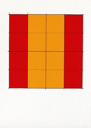 Pythagoras´ Theorem (6) - Silk-Screen by Cajsa Holmstrand.