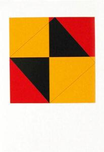 Pythagoras (3) - Silk-Screen by Cajsa Holmstrand.