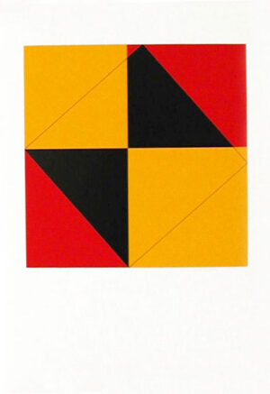 Serigrafi Pythagoras (3) av Cajsa Holmstrand.