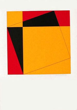 Serigrafi Pythagoras (4) av Cajsa Holmstrand