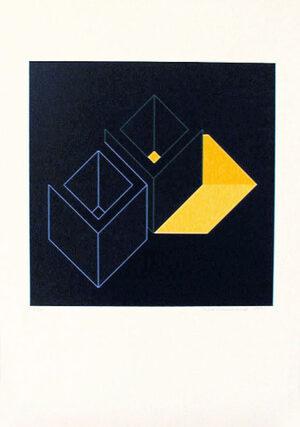 Serigrafi Relationer (1) av Cajsa Holmstrand.