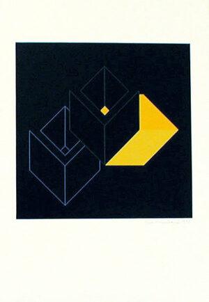 Serigrafi Relationer (2) av Cajsa Holmstrand.