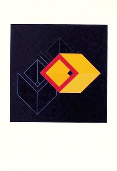 Serigrafi Relationer (4) av Cajsa Holmstrand.