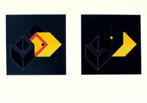 Serigrafi Relationer (2+3) av Cajsa Holmstrand.