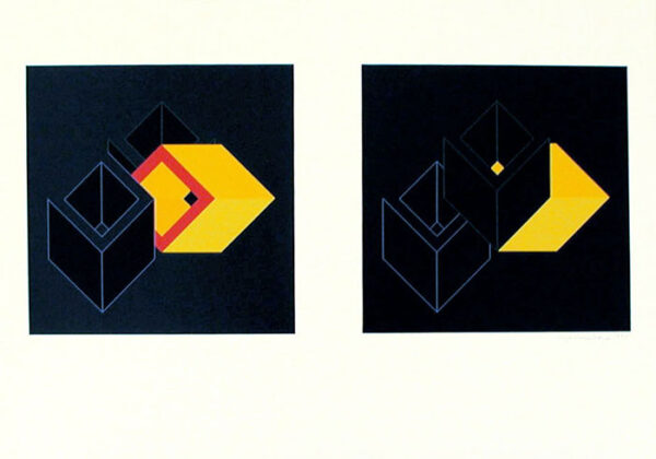 Relations (2+3) - Silk-Screen by Cajsa Holmstrand.