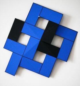 Serigrafi Vikbart dubbel blå Vikbart dubbel blå av Cajsa Holmstrand.