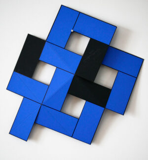 Foldable Double Blue - Silk-Screen by Cajsa Holmstrand.