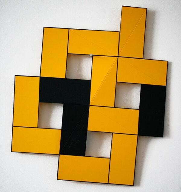 Serigrafi Vikbart dubbel gul av Cajsa Holmstrand.