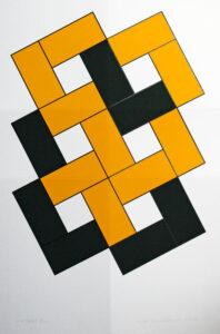 Serigrafi Vikbart gul av Cajsa Holmstrand.