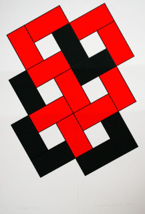 Foldable Red - Silk-Screen by Cajsa Holmstrand.