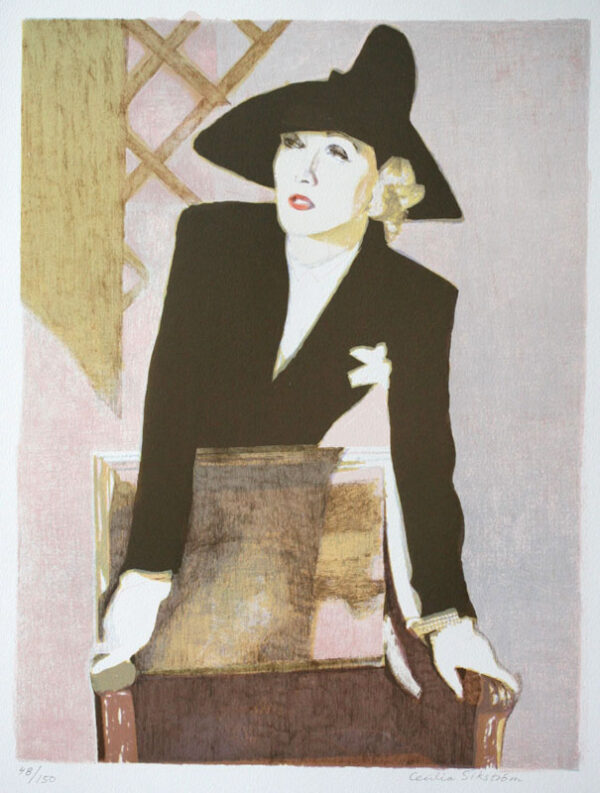 Marlene - Lithograph by Cecilia Sikström.