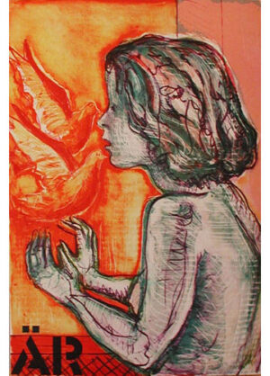 ÄR in the folder kÄRleken (LOVE) - Lithograph by Eva Zettervall.