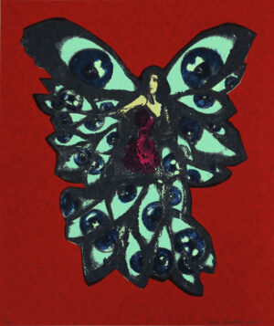 Butterfly - Silk-Screen by Eva Zettervall.