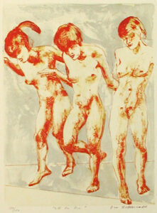 One Two Three - Lithograph by Eva Zettervall.