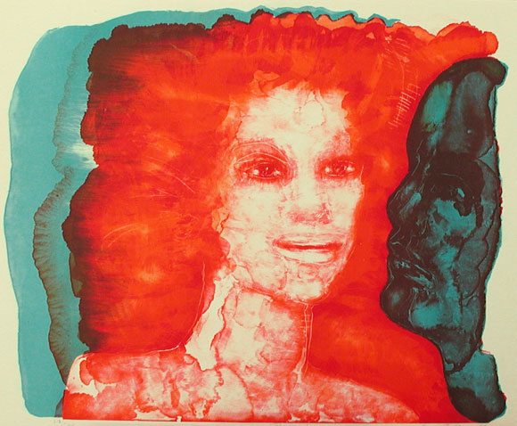 The Flame - Lithograph by Eva Zettervall.