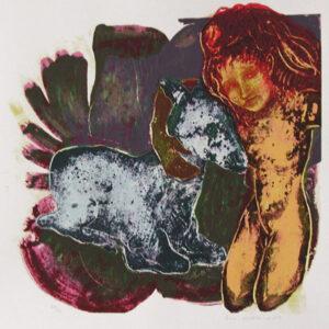 Golden Sister - Serigraph by Eva Zettervall.