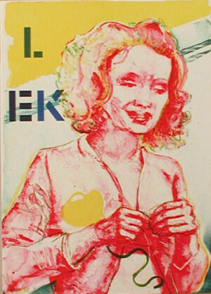 LEK in the folder kärLEKen (LOVE) - Lithograph by Eva Zettervall.