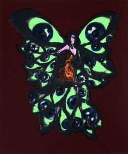 Butterfly Night - Silk-Screen by Eva Zettervall.