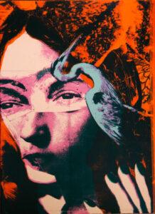 Serigrafi Sara av Eva Zettervall.