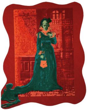 Serigrafi Siri von Essen (röd) av Eva Zettervall.