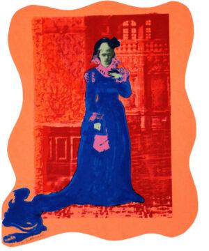 Serigrafi Siri von Essen (orange) av Eva Zettervall.