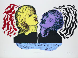 Sirens II - Silk-Screen by Eva Zettervall.
