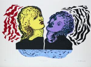 Serigrafi Sirenerna II av Eva Zettervall.