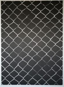 Litografi Stängsel av LG Lundberg.