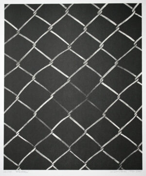 Fence - Lithograph by LG Lundberg.