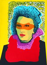 Anja - Silk-Screen by Eva Zettervall.